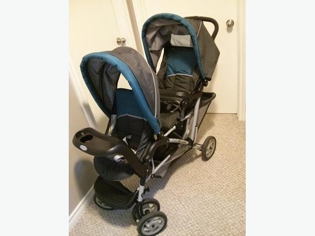 graco duoglider dragonfly double stroller east regina regina. Black Bedroom Furniture Sets. Home Design Ideas
