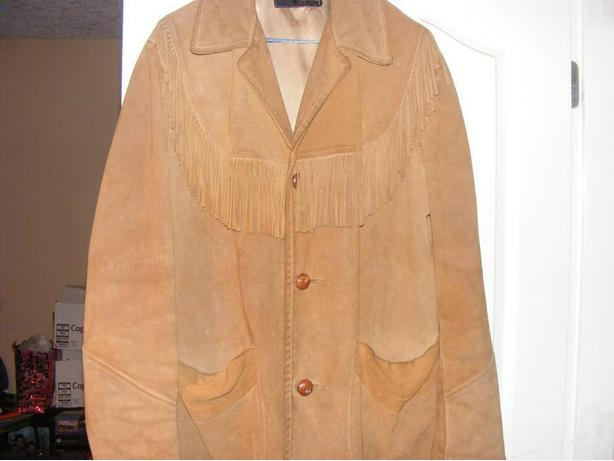 men's buck skin  jacket