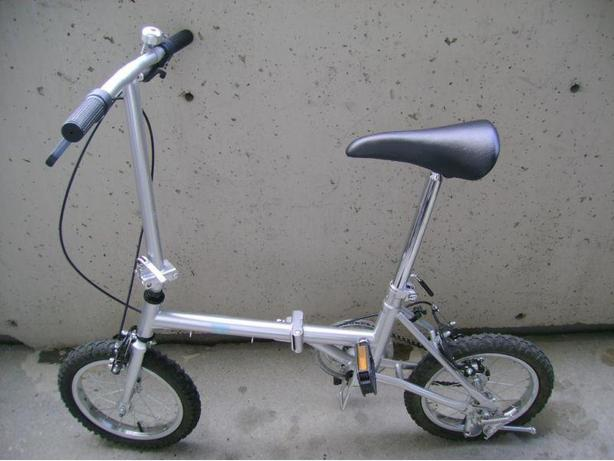 Folding Vincente, a single speed, 14 inch wheels