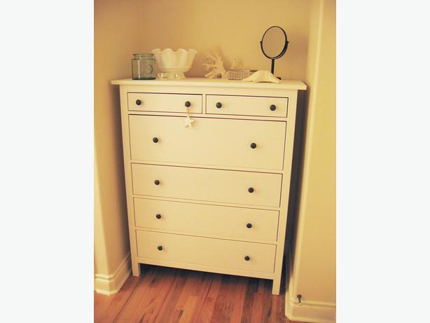 Brand new ikea hemnes white stain 6 drawer dresser solid for Ikea hemnes comoda
