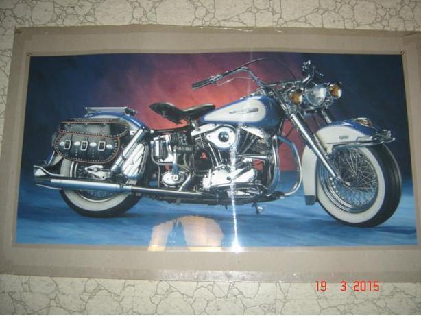 Rare Harley-Davidson Laminated Print