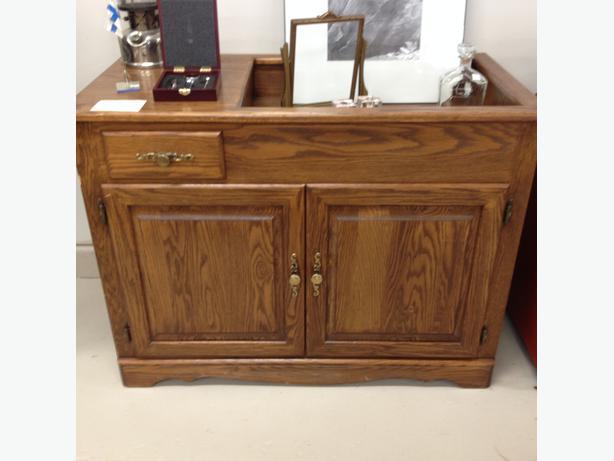 Oak Dry Sink Cabinet | Bar Cabinet