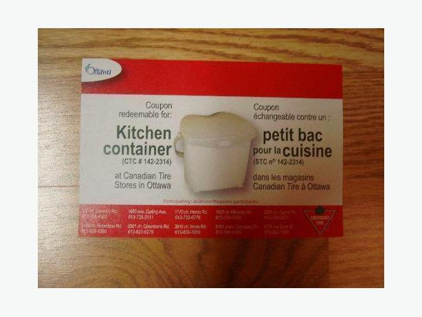 Brand New Unused Kitchen Compost Bin Counter Coupon - $3