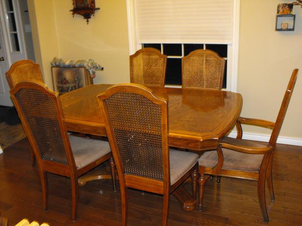 Sklar Peppler Oak Dining Room Set With Matching Hutch Stittsville Ottawa