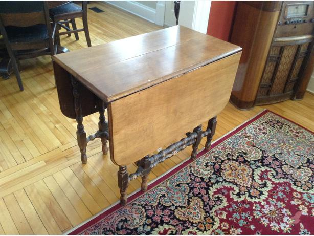 Antique dining table - very versatile