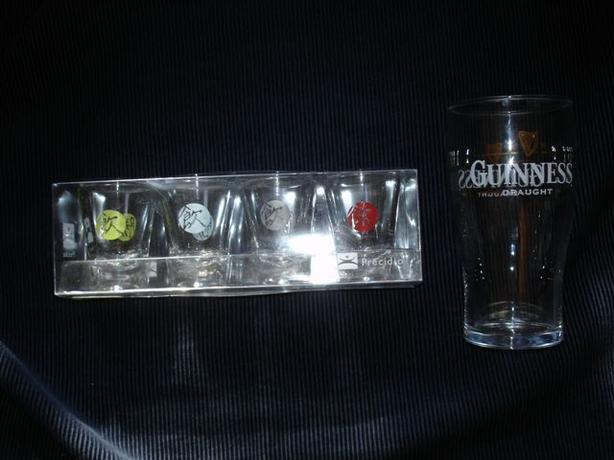 """Fortunes"" SHOT GLASSES + BONUS GUINNESS PINT GLASS for Father's DAY!"