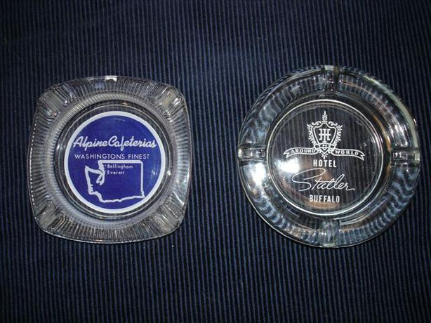 2 Retro Cool Vintage Ashtrays -Great Gift!!!