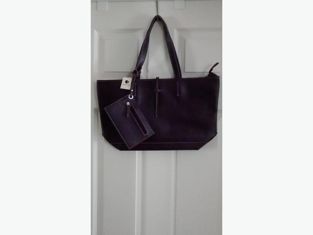 Brand New-Beautiful Purple Jessica Tote with matching Coin Purse