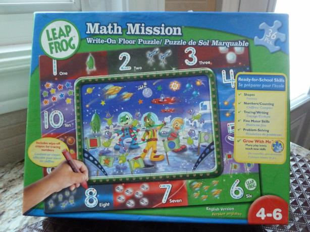 LeapFrog: Leap to the Moon Math Mission Write-On Floor Puzzle