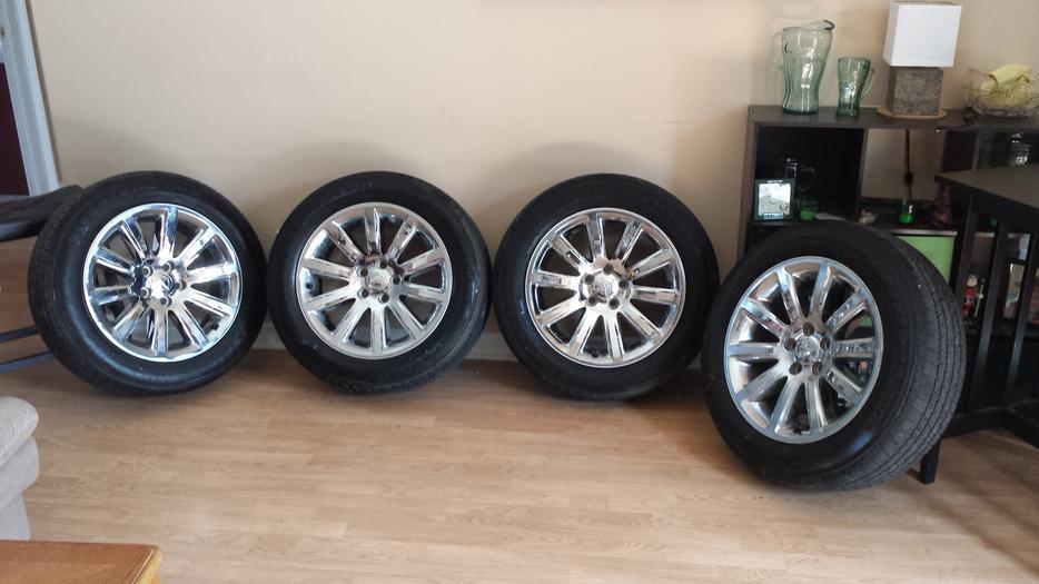 "Used Tires Oshawa >> 18"" Chrysler rims and tires 225/60R18 Orleans, Ottawa"