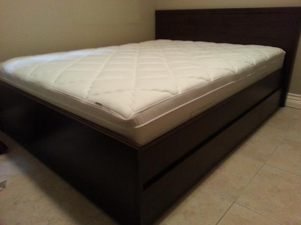 2 month old Ikea Queen Brusali bed and Sultan hansbo mattress
