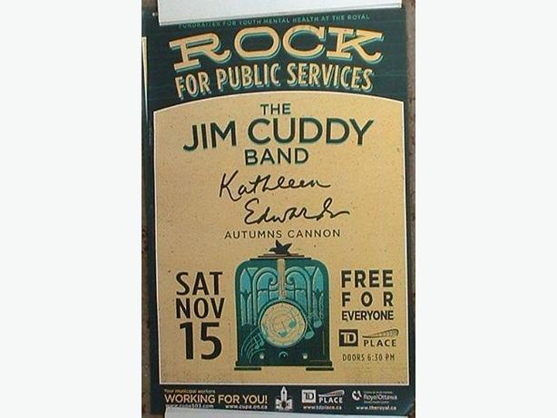 New Jim Cuddy Band Concert Poster Blue Rodeo