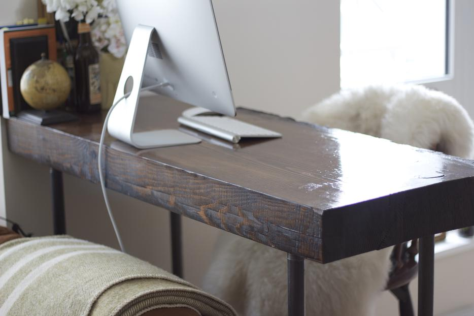 Custom Reclaimed Wood Writing Desk Victoria City, Victoria