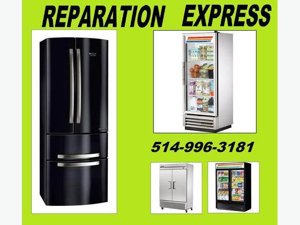Appliance repair fridge refrigerator 514-996-3181 reparation refrigerateur