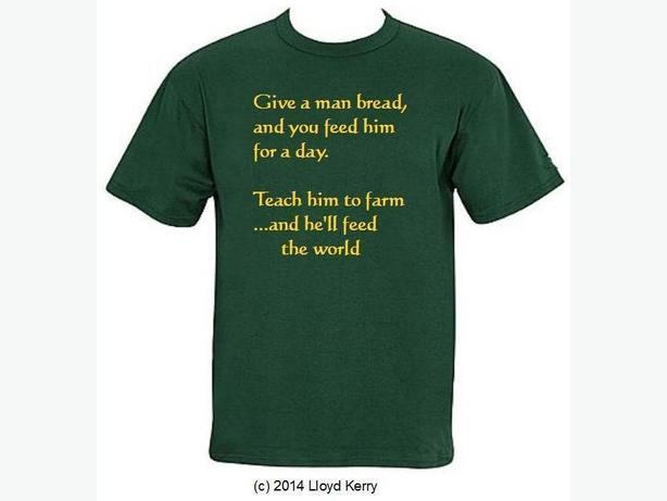 Farmers- they feed the world!! t-shirt
