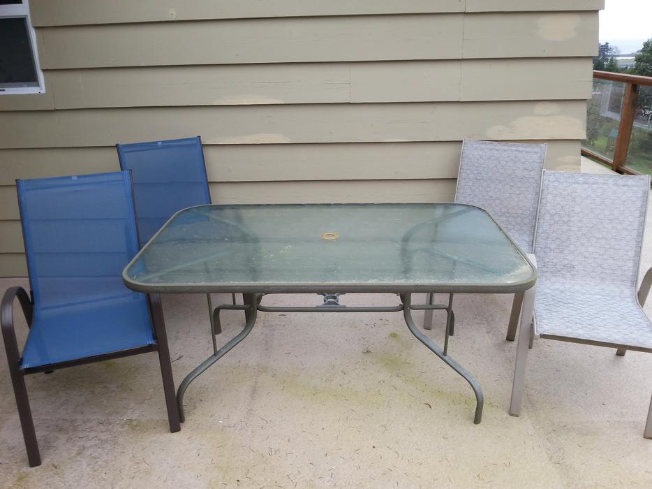 glass top patio table with 4 chairs north nanaimo nanaimo mobile