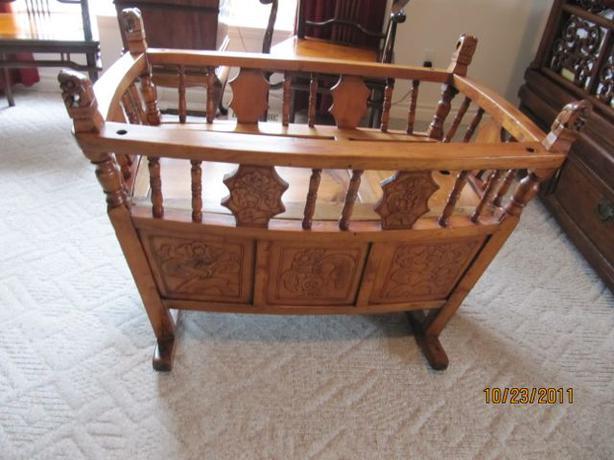 Antique Baby Cradle/Playpen from Shanghai