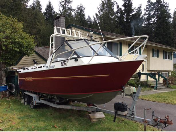 22 39 aluminum boat with new 150hp kicker electronics trailer outside nanaimo nanaimo mobile - Westerburg mobel ...