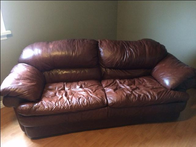 Comfy Leather Couches used leather sofa