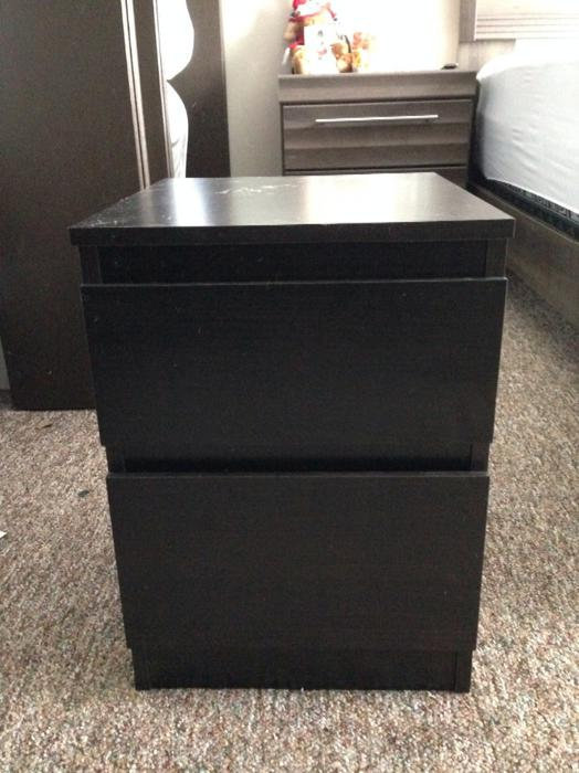 Brown ikea malm nightstand victoria city victoria - Mobile malm ikea ...