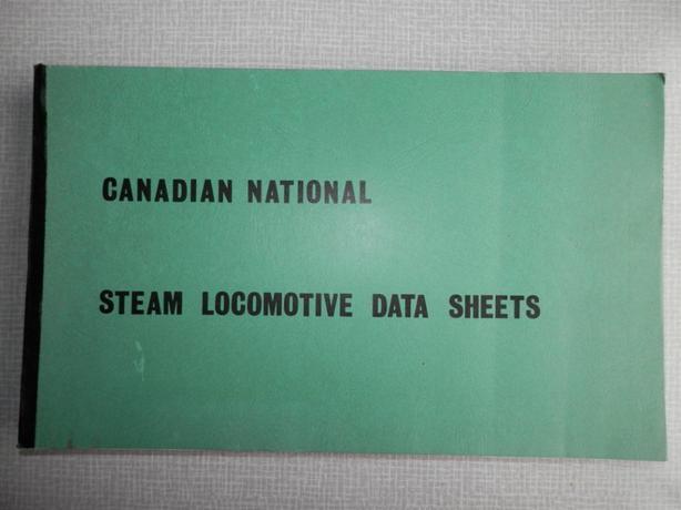 Canadian National Steam Locomotive Data Sheets