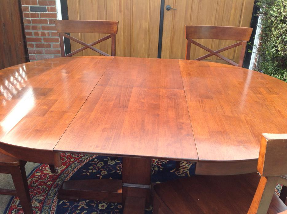 Chintz dining room table and 6 chairs saanich victoria for Dining room tables victoria