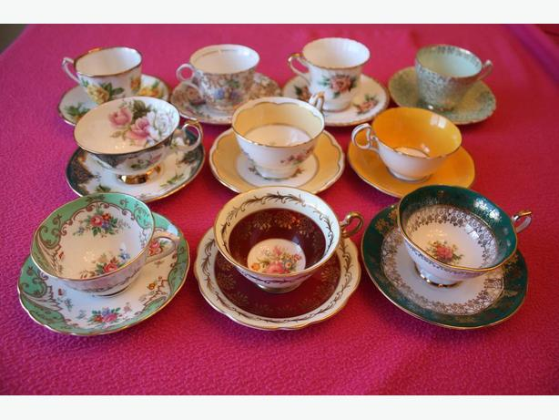 Another Lot of England Fine Bone China Tea Cup and Saucer Sets