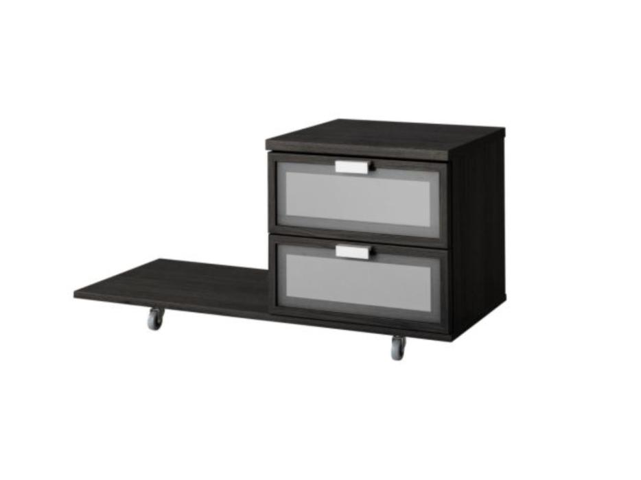 hopen king bed frame, dresser and 2 nightstands from ikea