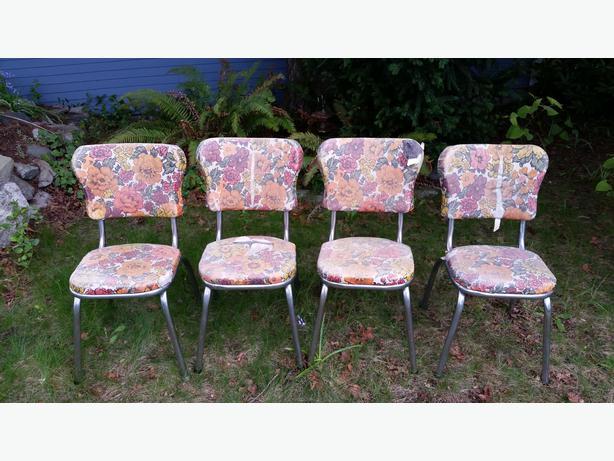 Retro Vinyl Chairs Set of 4 Retro Vinyl Chairs