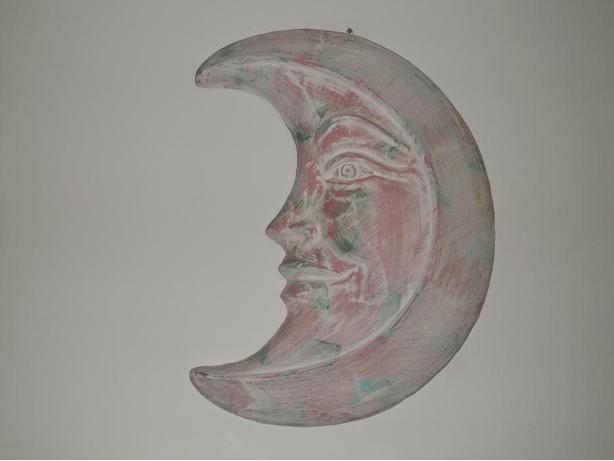 Moon Terra-Cotta Wall Art