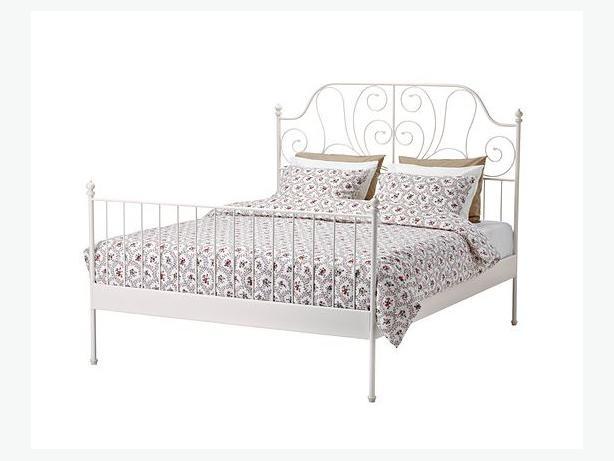 ikea leirvik metal bed frame full double victoria city victoria. Black Bedroom Furniture Sets. Home Design Ideas