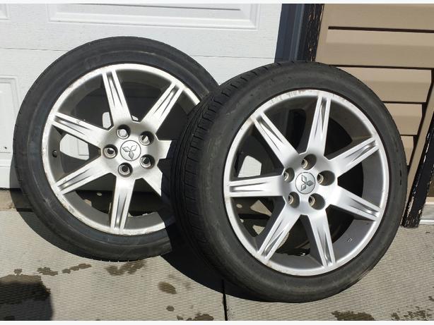 4 tires rims 235 45 18 north regina regina mobile. Black Bedroom Furniture Sets. Home Design Ideas