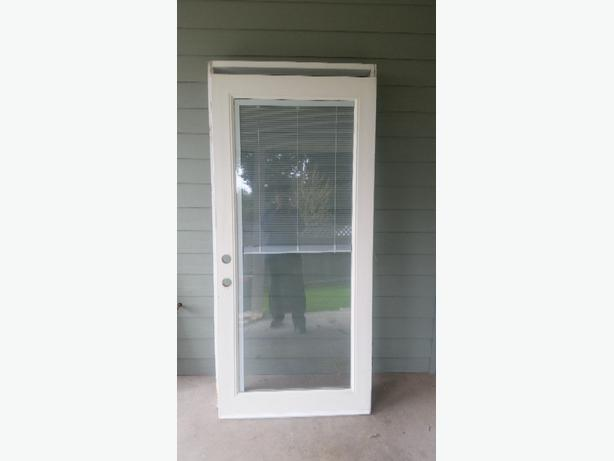 Exterior Door With Built In Mini Blinds West Shore Langford Colwood Metchosin Highlands Victoria