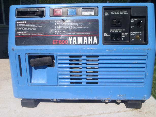 Yamaha ef600 generator maple bay cowichan for Yamaha generator for sale