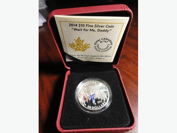 Canada Coloured Silver WWII COMMEMORATIVE Coin Wait For Me Daddy