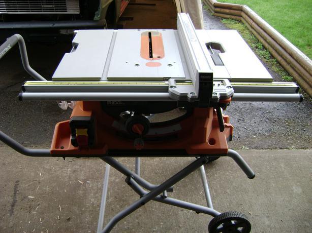 Ridgid 10 portable table saw south nanaimo nanaimo mobile for 12 inch ridgid table saw