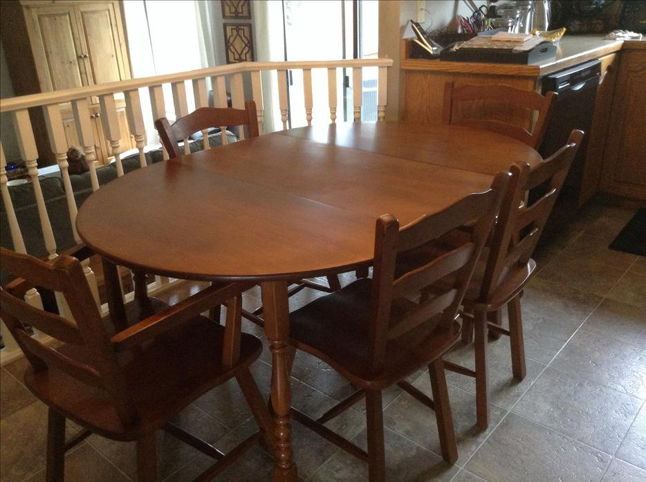 Vilas Solid Maple Dining Table And Chairs Outside Fraser Valley