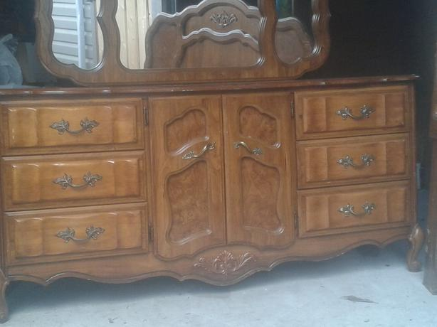 Moving Sale 4 Piece High Quality Cherry Wood Bedroom Set