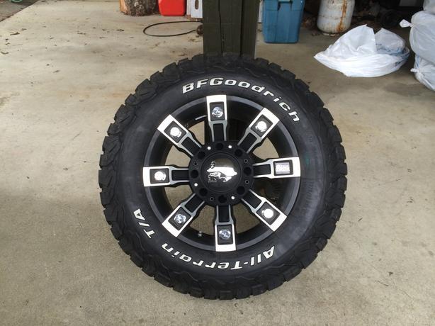 "Metal Mulisha - Pro Comp 18"" wheels on BFG All Terrain KO2 North Nanaimo, Nanaimo"