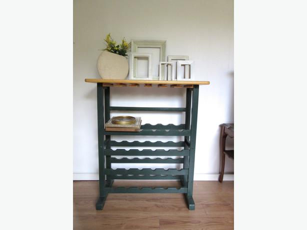 tall wood wine rack table kitchen dining room central