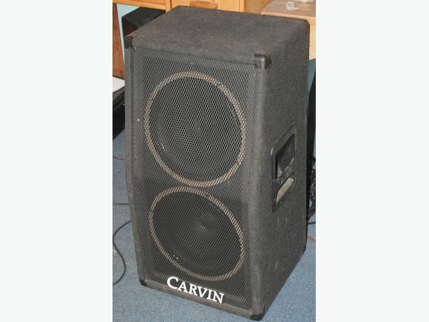 CARVIN V212 2X12 SLANT FRONT GUITAR SPEAKER CABINET with COVER ...