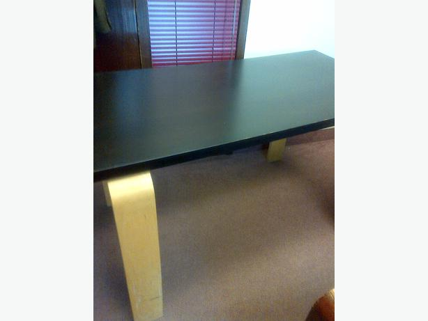 Black Ikea Multipurpose Computer Counter Top Support Wood