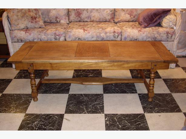 Retro All Wood 2 Pc Set Coffee Table End Table With Drawer Outside Nanaimo Nanaimo