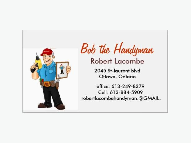 Bob The Handyman Gloucester Ottawa