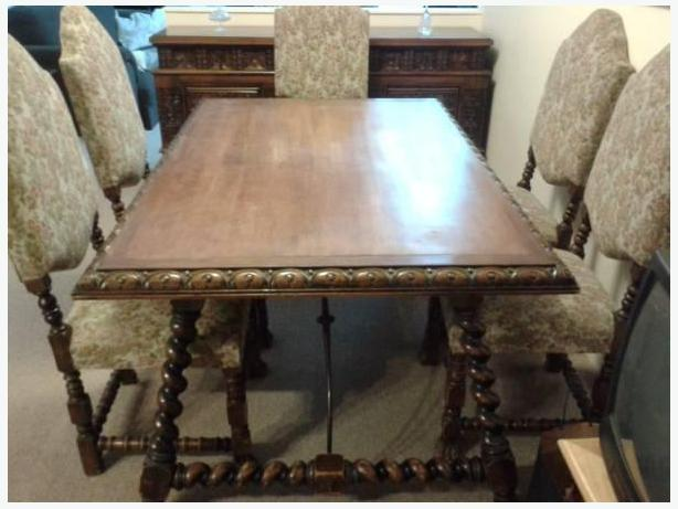 1930s Complete Mahogany Dining Room Set
