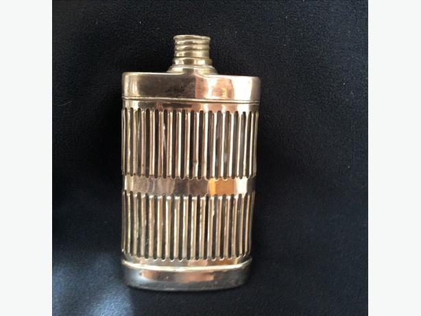 Vintage Silver/Glass Hip Flask/Price reduction