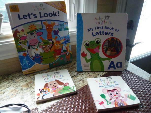 4 baby einstein hardcover books