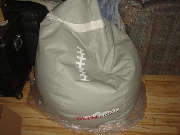 Coors Light Football Bean Bag Chair