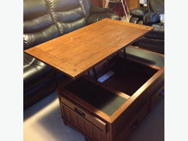 Lift top coffee table oak bay victoria for Coffee tables 30cm wide