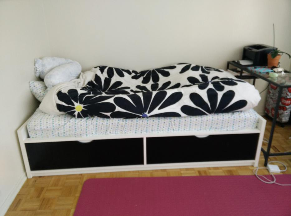 Ikea bed frame with storage flaxa downtown toronto toronto for Used bed frame with storage